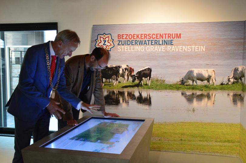 Zuiderwaterlinie Museum touchscreens met Omnitapps