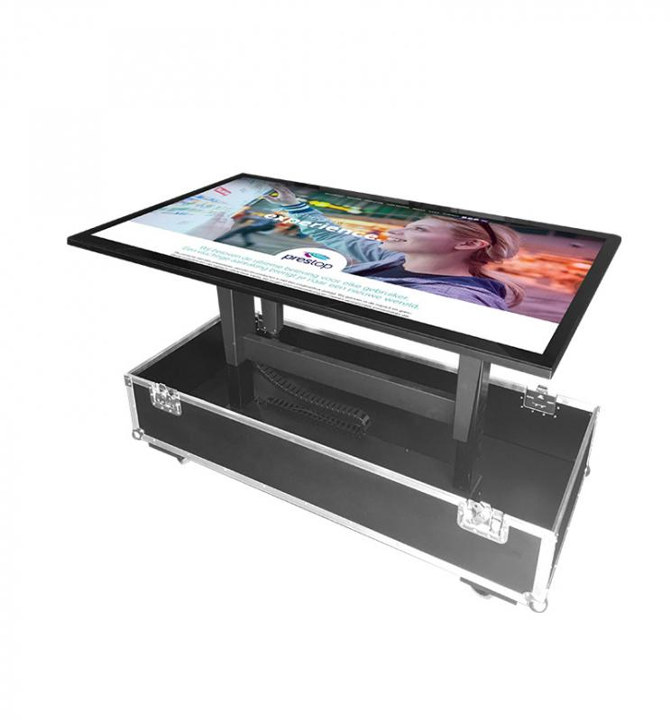 "Flightcase voor 70"" display"