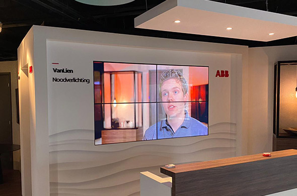 Experience Center van ABB heeft videowalls, curved screens en led displays