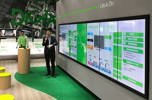 Touch videowall voor Schneider Electric
