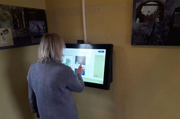 Touchscreen met webcam voor Landschap Noord-Holland