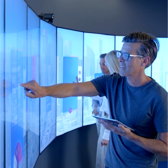 Curved touch videowall (nieuw)